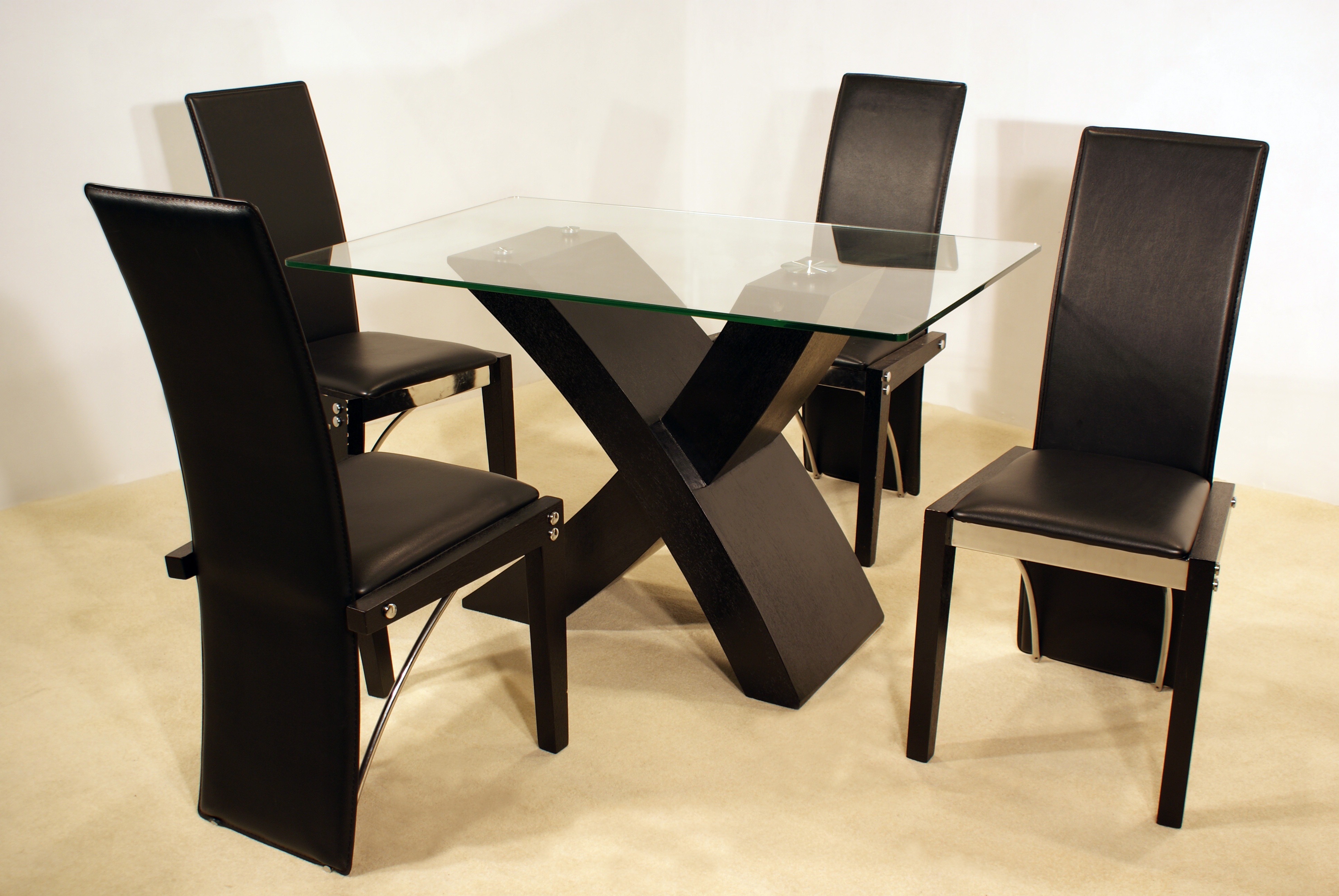 Arizona Black Dining Set With 4 Chairs